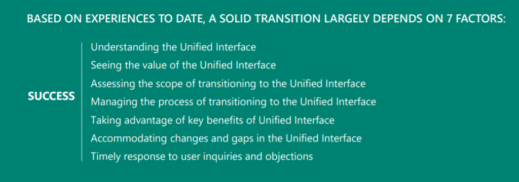 Unified Interface | 7 steps to a solid transition | Dynamics 365 Support
